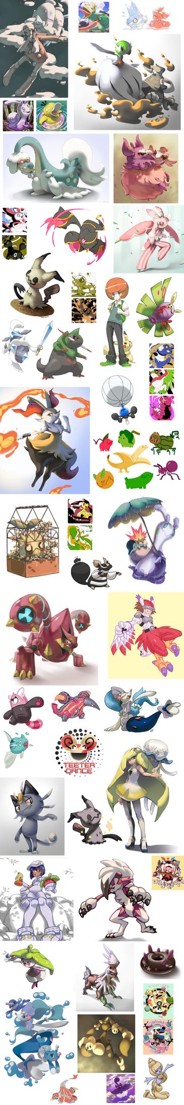 Pokemon Dump 2015 - 2017 by PinkGermy