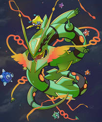 Rayquaza Mega by PinkGermy