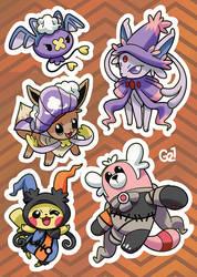 Stickers sheet by PinkGermy