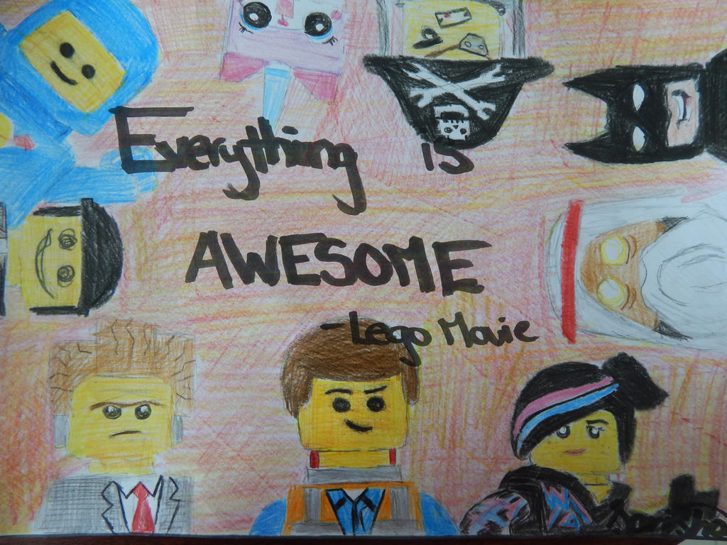 """Emmet (Chris Pratt) in The Lego Movie: """"Everything is ...  