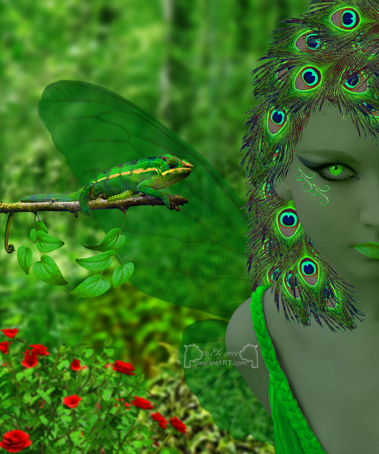 Green Forest Fairy by 0Ebi0
