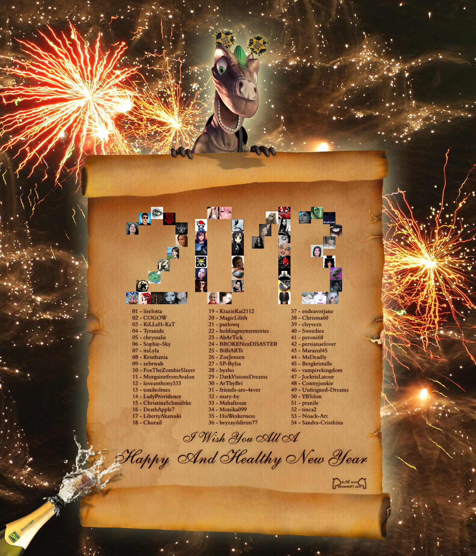 Happy New Year 2013 by 0Ebi0