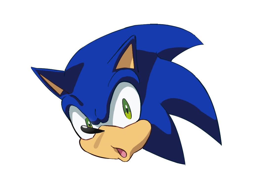 Sonic S Head Draw For Fun By Ninourse07 On Deviantart