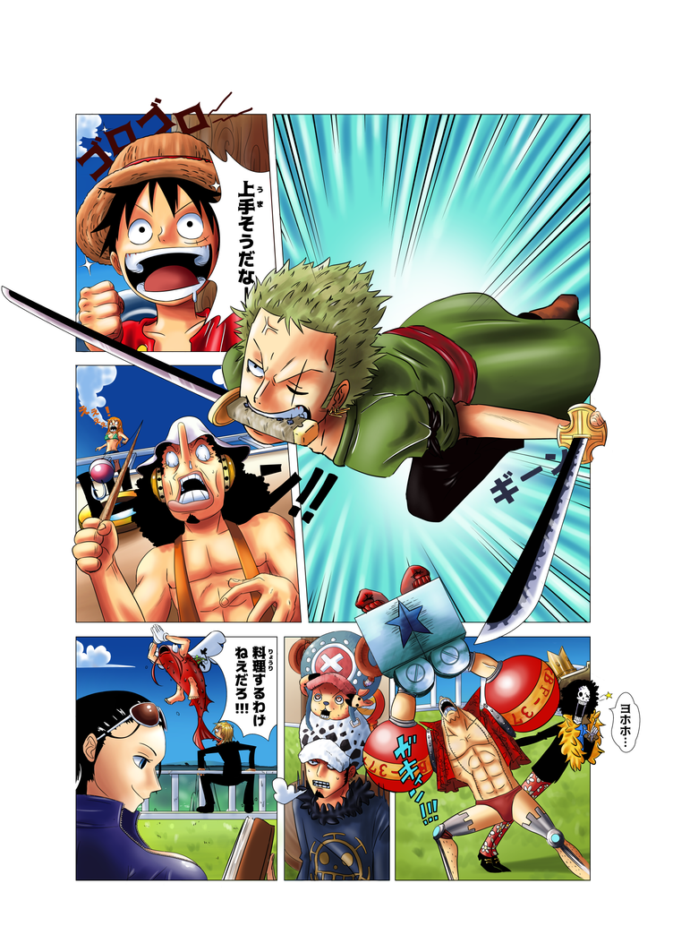 Comission - One piece comic by Ninourse07
