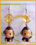 Cute Monkey Earrings