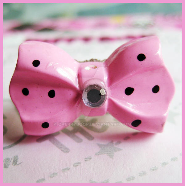 Pink Bow Ring by cherryboop