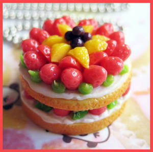 Fruit and Cream Cake Necklace