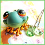 Frog Pet Necklace by cherryboop