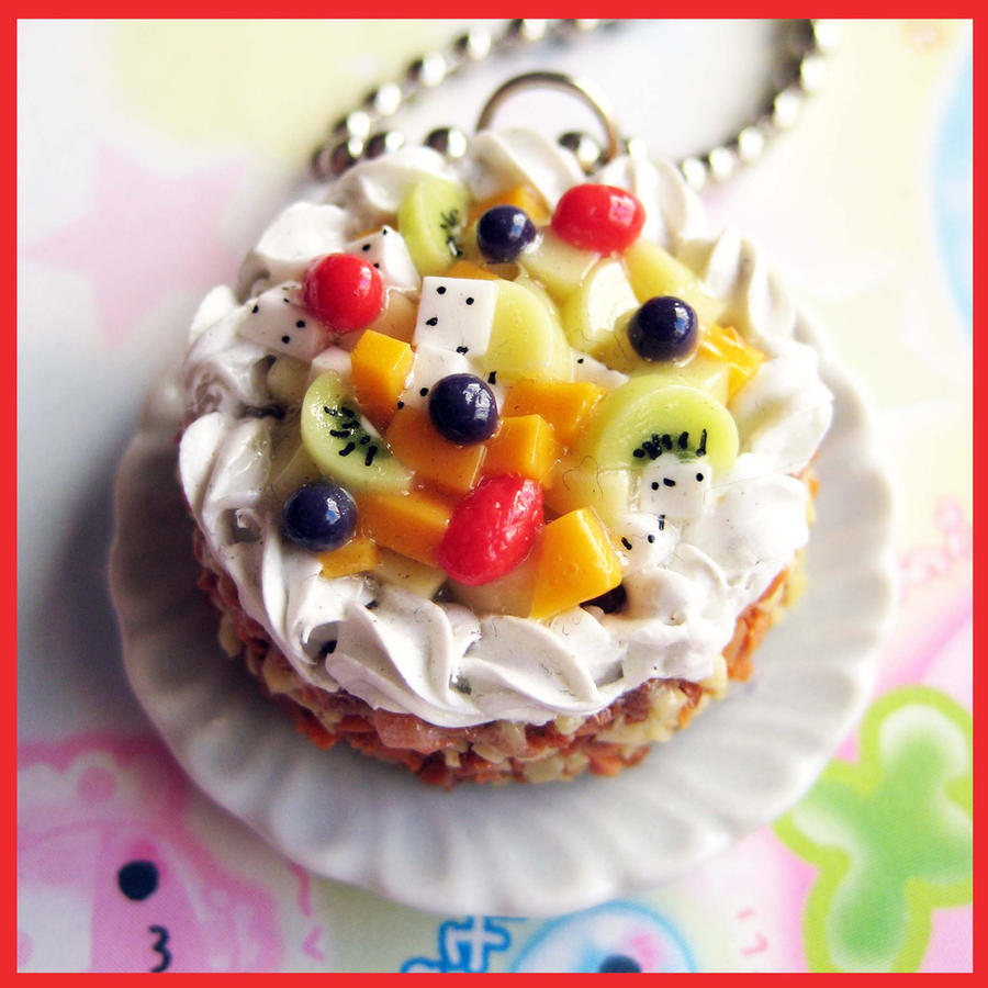 tropical fruit healthy fruit cake