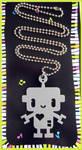Grey Robot Acrylic Necklace