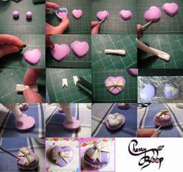 Clay Macaron Heart Tutorial by cherryboop