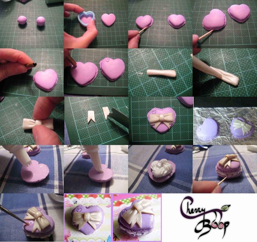 Clay Macaron Heart Tutorial by cherryboop