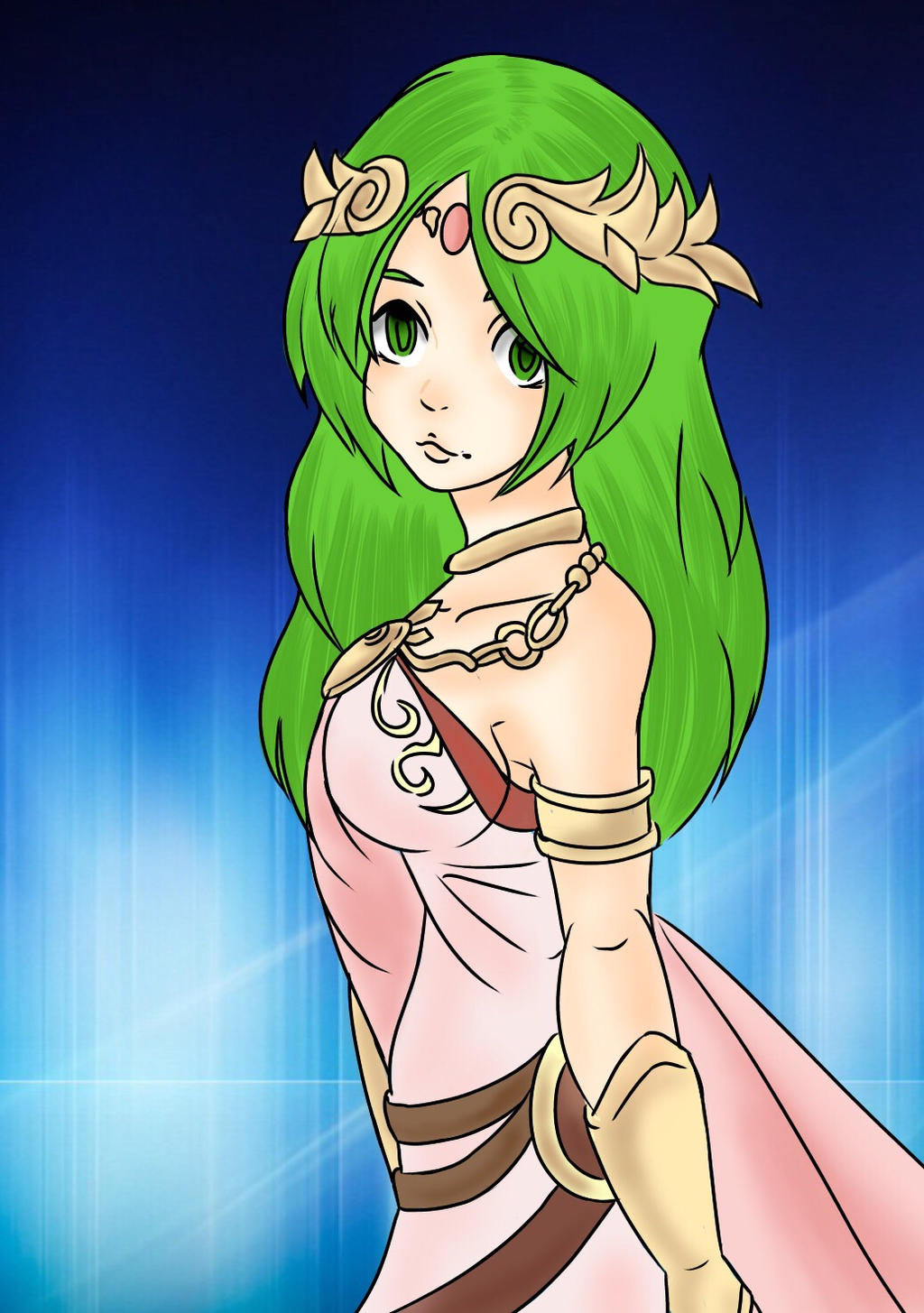 Lady Palutena Commission for Who256 by KaiNoKimi
