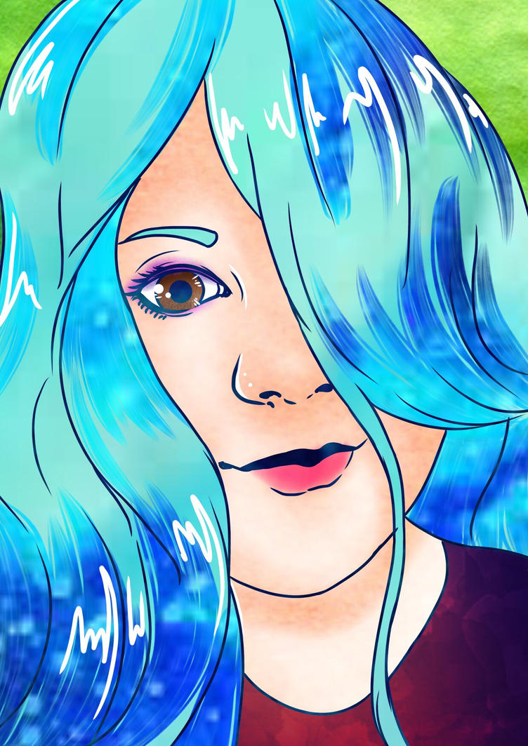 Digital Self-Portrait by KaiNoKimi