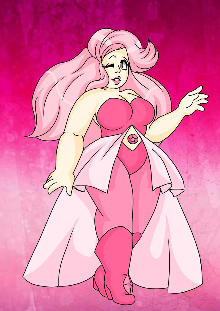 OTA Rose Quartz Gemsona by KaiNoKimi