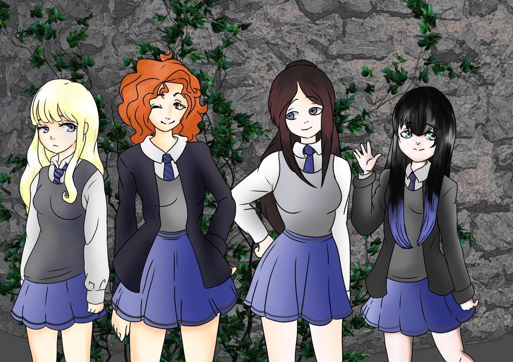 Ravenclaw Girls Commission by KaiNoKimi