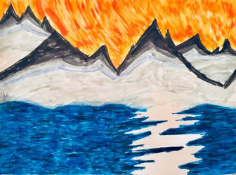 My first landscape drawing by ThatLittlePotato