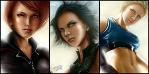 Powerpuff Battlesuit close-ups by tjota