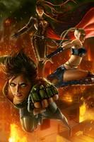 Powerpunk Girls by tjota