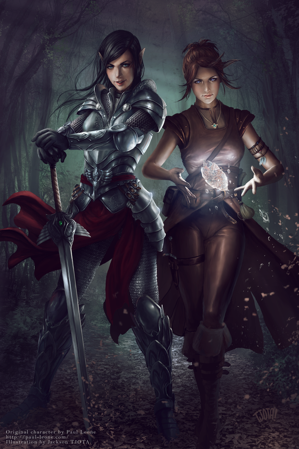 Amra and Iria by tjota