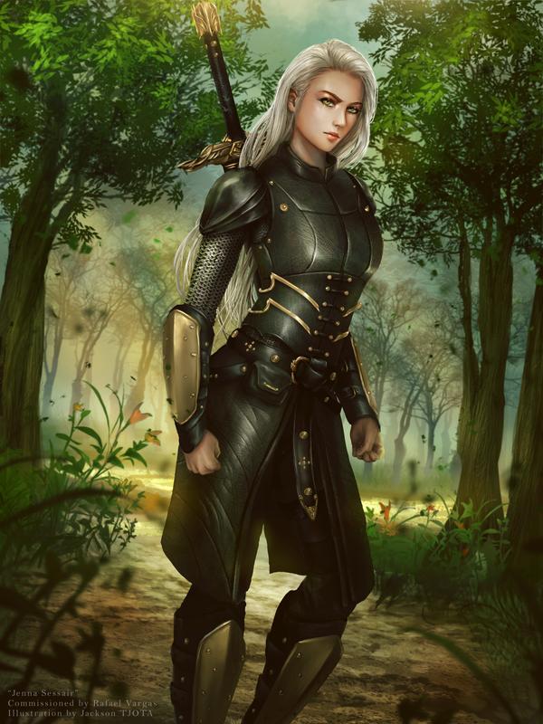 Jenna Sessair, Sister Warrior by tjota