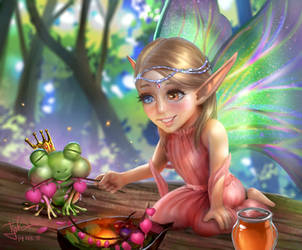 Cornishon Dates the Fairy Goddess by tjota