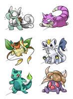 :close: Pokemon Fusion Set4 :close: by DarkDragonDen