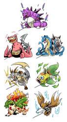 [Close]Auction Pokemon Fusion Set 6[Close] by DarkDragonDen