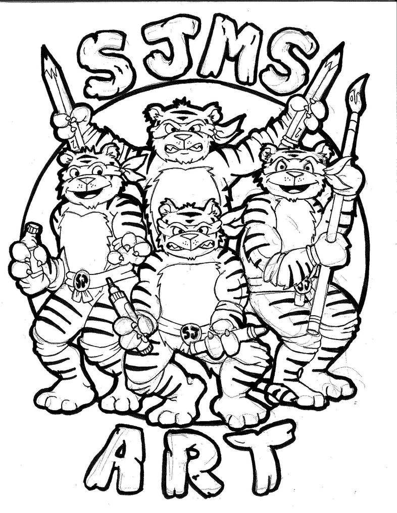 14-15 Art Shirt Design for my Middle School by bigcas61