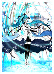+ MIKU WITCH VER. [Coloured] + by its-kaira