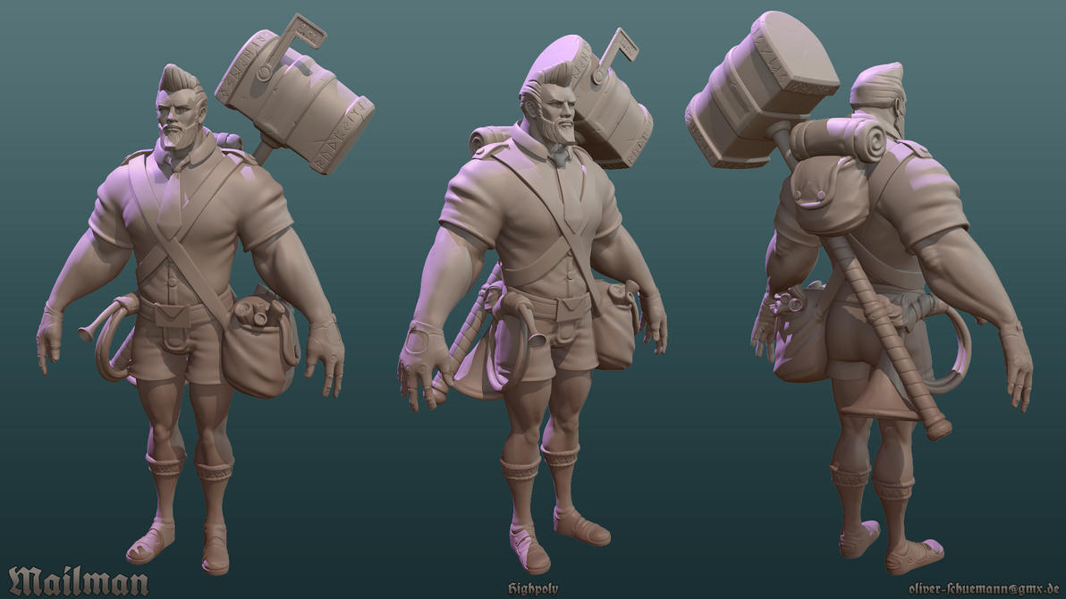 Mailman Highpoly by crazy-pixel