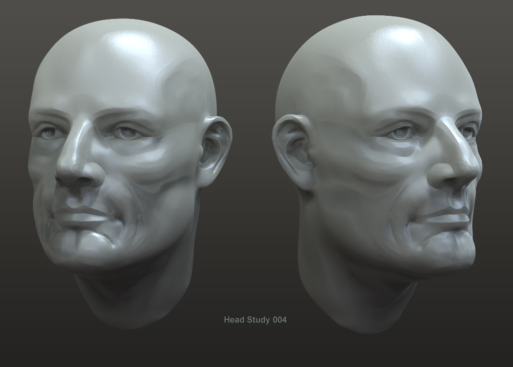 Male Head Study 002 by crazy-pixel