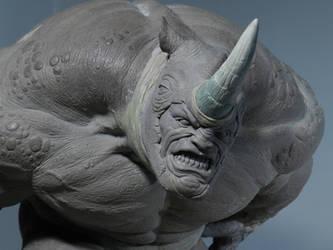 Rhino Sculpture 1 by loqura