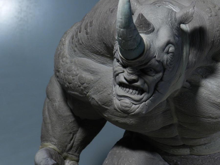 Rhino Sculpture 2 by loqura