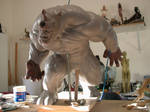 Rhino Sculpture process