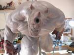 Rhino sculpture process 2