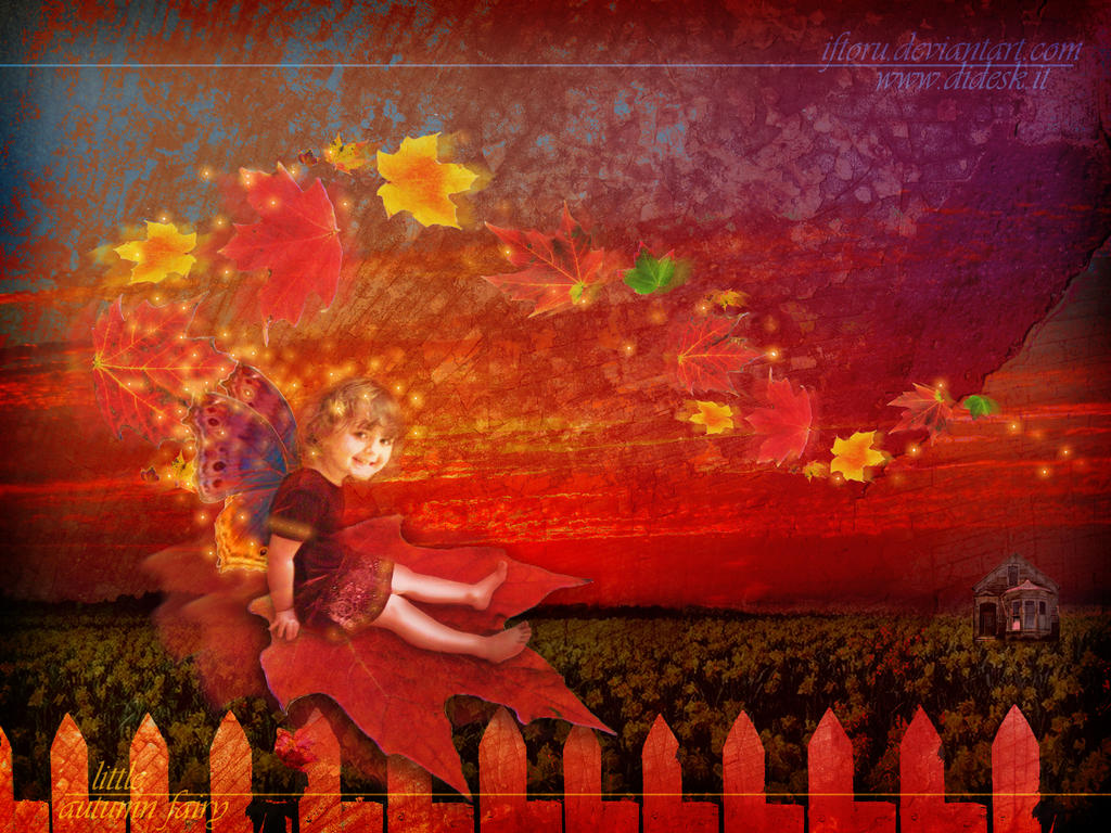 little autumn fairy by ifToru