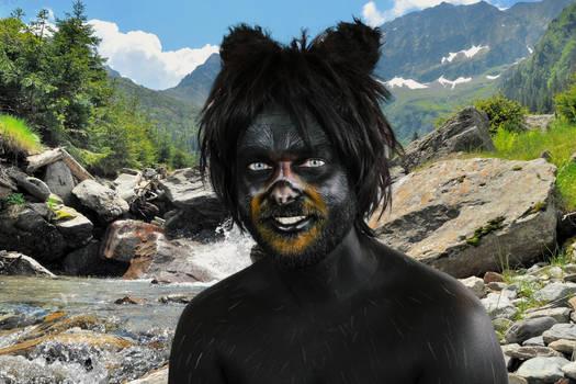 Black Bear Body Paint