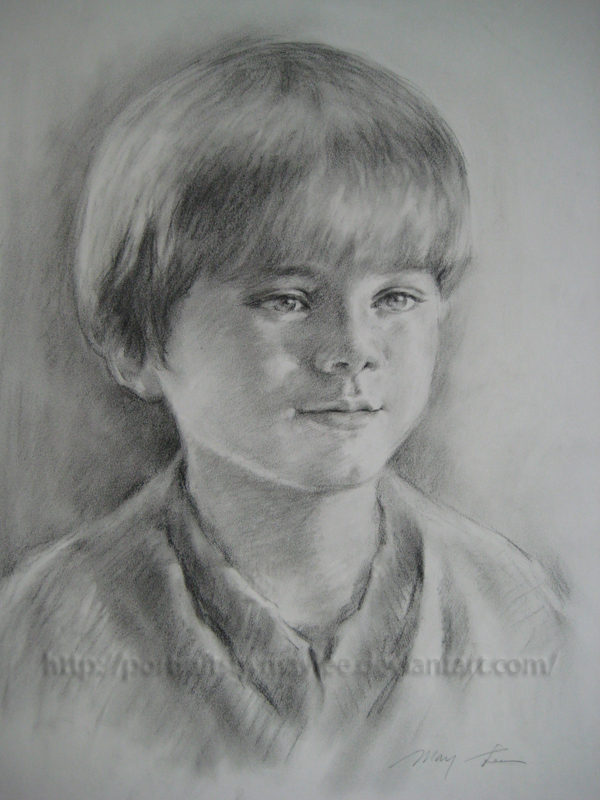 Young Anakin Skywalker By Portraitsbymaylee On Deviantart