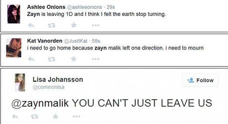Zayn Malik Twitter reactions #1