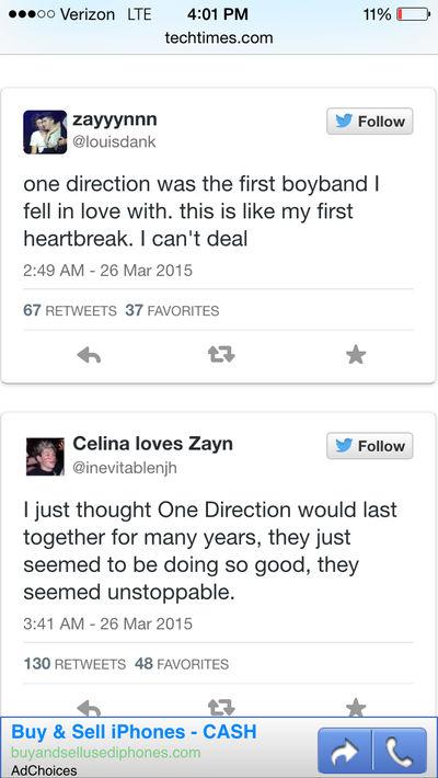 Zayn Malik reaction Tweets #2
