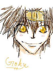 Goku tegaki sketch by Wolverina