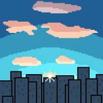 Cityscape Sunset by UncannyVin