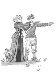 Amya Fan Art: Faye and Kaden by introvertedchaos