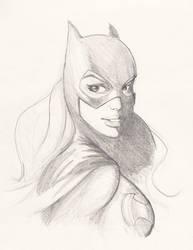 Batgirl Sketch by Marc-F-Huizinga