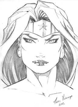 Wonder Woman warmup sketch by Marc-F-Huizinga