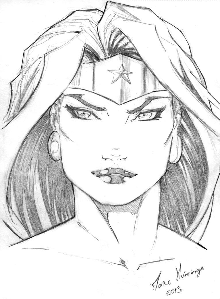 Wonder Woman Warmup Sketch By Marc F Huizinga On DeviantArt