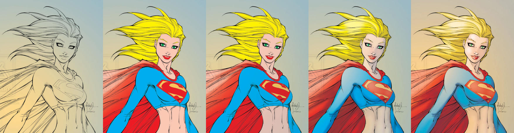 Supergirl Coloring Steps by Marc-F-Huizinga on DeviantArt