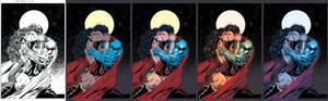 Wonder Woman/Superman Coloring Steps