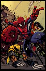 Avenging Spiderman by Marc-F-Huizinga